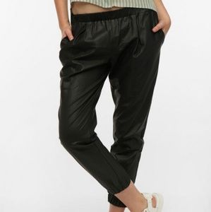 Urban outfitters vegan leather joggers